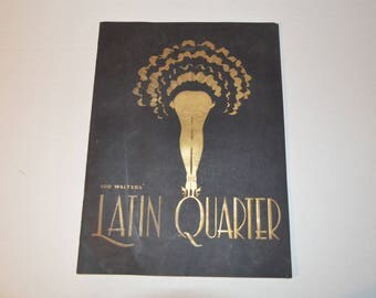 1950s program illustrated Lou Walters Latin Quarter nightclub vintage souvenir paper memorabalia