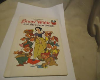 Vintage 1973 Walt Disney's Snow White And The Seven Dwarfs Hardback Book, Children's, collectable