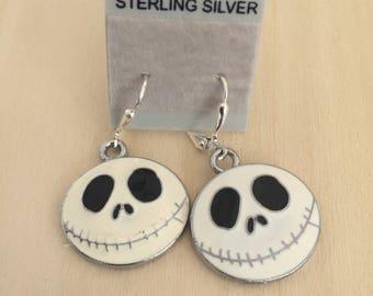 Nightmare before Christmas, jack Skellington earrings, Nightmare before Christmas earrings, Christmas earrings, Jack Skellington, Tim Burton