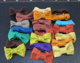 MILESTONE SALE 40% OFF with Coupon, Lot of Felt Hair Bows, Bow Hair Clips
