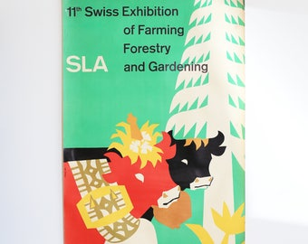 Swiss Exhibition of Farming, Forestry and Gardening Original Poster 50's