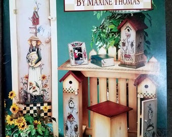 Country Primitives 4 Tole Painting Book Decorative pattern Maxine Thomas crafting project artist Folk Art