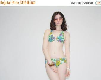 FLASH SALE - Vintage 1960s Psychedelic  Bikini Swimsuit -   60s Bathing Suit - The Hang Ten Bikini Bathingsuit  - WT0052