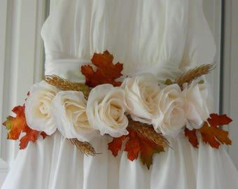 Fall Wedding Dress Sash