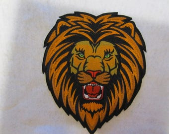 Embroidered Iron On Lion Patch, Iron On Patch, Lion, Lion Applique, Lion Patch, Lions, Applique Lion