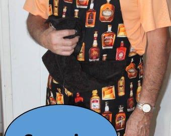 WHISKEY,Whiskey bottle,Penis apron,Beer,Dick,Funny man apron,Funny aprons,Naughty apron,Penis gag gift,Funny gag gift,Apron with penis,matur