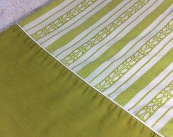 new year sale retro stevens utica green striped pillowcase single case standard size