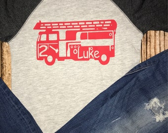 firetruck birthday shirt firetruck shirt