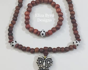Owl Mala Beads