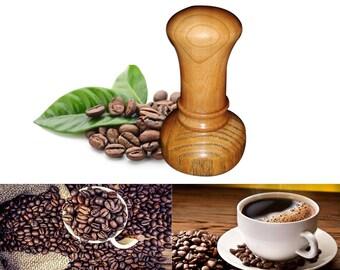 Coffee tamper, espresso tamper, barista, wood