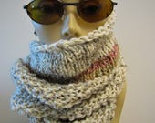 Oatmeal Pink Pastel Short Cowl