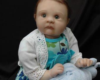 """Reborn 21"""" baby girl, bright eyed, sweet, cuddly, Mazie"""