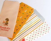 our flower stripe eiffel tower - 4 orange packaging, gift bags, Christmas package - sale items