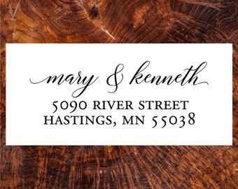 Address Stamp, Return Address Stamp, Calligraphy Stamp, Self -Inking Address Stamp, Wedding Stamp, Wood handle Stamp, Custom Stamp  20526