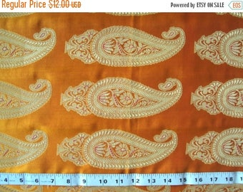 CIJ SALE indian fabric paisley brocade fabric - br023 - 1 yard