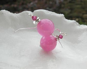 Pink Murano Glass Earrings
