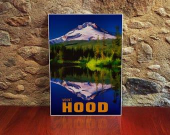 Mount Hood Art Print 12x18 Poster Art Print Oregon Artwork Mountain Landscape Nature Art Wilderness Decor