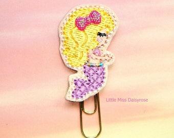 Lavender Blonde Mermaid Planner Clip Paperclip
