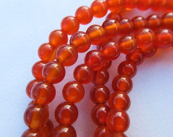 Round Red Agate Beads 4mm Natural Gemstone Beads Strand g019