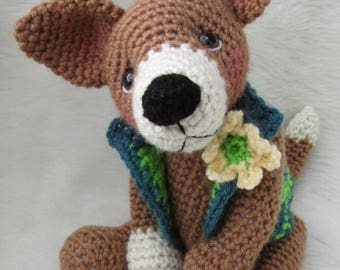 Summer Sale Crochet Pattern Chiwawa Dog by Teri Crews instant download PDF format
