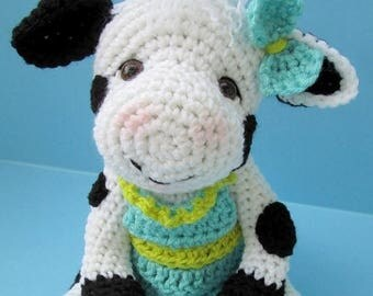 Summer Sale Crochet Pattern Cute Cow by Teri Crews Wool and Whims Instant Download PDF Format