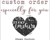 Custom Order for Danielle: 6 mini holiday stamps