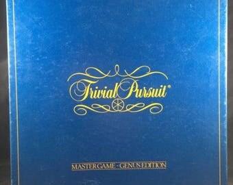 Trivial Pursuit Original GENUS MASTER Board Game 1st Edition 100% Complete