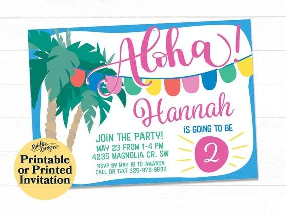 Pool party invitation aloha invitation luau birthday invitation il570xn stopboris Image collections