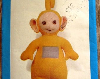 Laa-Laa Teletubbie 15 inch Doll with Iron-on Transfer Butterick Pattern 5969 UNCUT