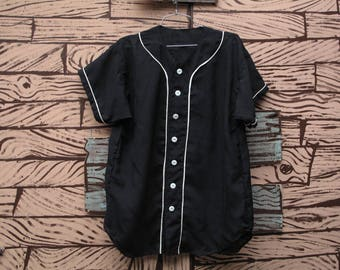 HAND MADE Silk baseball jersey