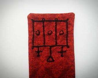 Sigil Bookmark - Furcas - Handsewn, Fabric