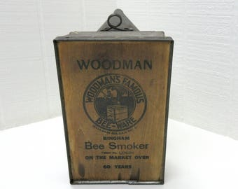 Vintage WOODMAN BEE SMOKER / Beekeeper's Bellows Smoker