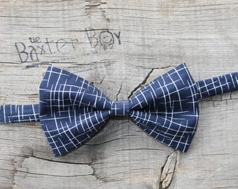 Navy Blue Hashtag bow tie for little boys - photo prop, ring bearer, wedding