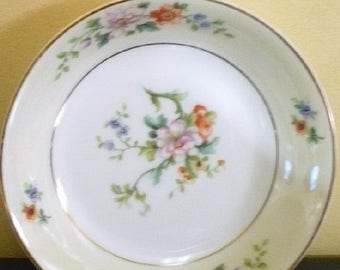 CHRISTMAS IN JULY 1/2 Price Htf - Vintage Heinrich / H & C - China -  358 - 9 7/8 Dinner Plates - Price Is For All -  Floral On Cream Rim Wh