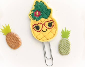 Girly pineapple    planner clip / organizer clip /  Paperclip / Planner Bookmark - Paperclip Bookmark - Planner Clips / fruit planner clip