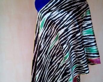 Uzbek vintage handwoven pure silk ikat fabric Han atlas 3,5 meter. VI036
