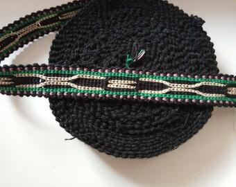 Uzbek cotton woven trim Jiyak. Ethnic Boho trim. NTR049