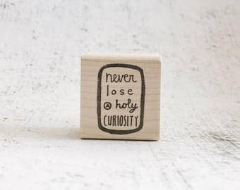 The Holy Curiosity 2.0 Einstein Quote Stamp - Physics and Science Rubber Stamp - Inspiring Grading and Stationary Stamp
