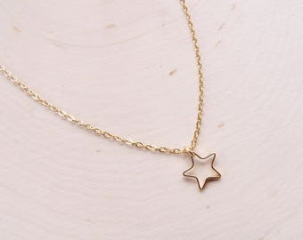 Delicate Star Necklace |  Lucky Star Necklace | Dainty Star Charm | Boho Jewelry | Summer Trends | Delicate Star Charm | Starry Jewelry Gold