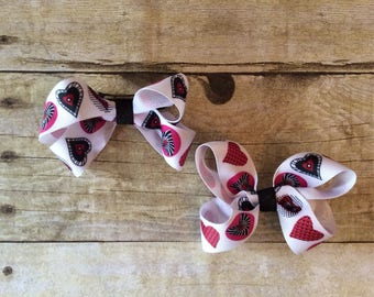 Heart Hair Clips-Set_French Barrettes