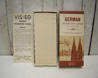 Boxed Set of 1000 German Vocabulary Cards Vis-Ed