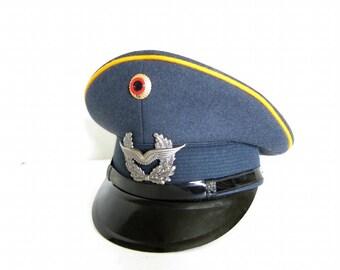 Vintage German Uniform Military Peaked Cap Hat Chauffeur Pilot Costume C63