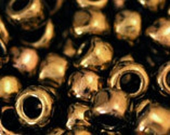 Japanese (TOHO) 6/0, Seed Bead, ANTIQUE BRONZE, #223, bronze, brown, dark tan, Kumihimo, Beadweaving, Beading, Jewelry