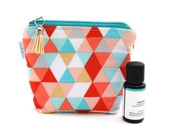 Essential Oil Storage Bag - Essential Oil Organization - Zipper Bag - Birthday Gift for Her - Triangle Bag - Travel Bag - BPA Free