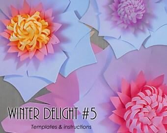 Paper Flower Template, PDF Paper Flower, DIY Paper Flower, Giant Paper Flower Templates, Paper Flower Tutorial, Paper Flower Instructions