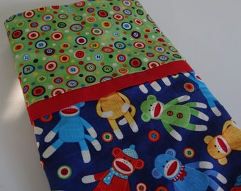 Sock Monkey Pillowcase