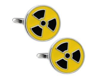 Hazard Symbols Cufflinks (Cuff Button Cufflinks).