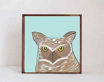 woodland nursery art- owl art print- forest animals- nursery woodland art- animal print- nursery forest -bird decor- redtilestudio, rustic