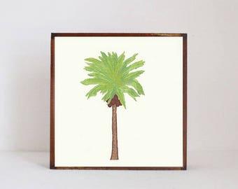 palm tree, tropical nursery art boho nursery decor gender neutral baby, wall decor, boho geometric prints, nursery art, redtilestudio
