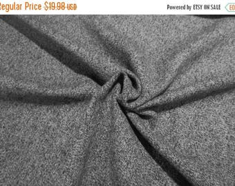 ON SALE Black and White Salt and Pepper Tweed Wool Blend Fabric--By the Yard